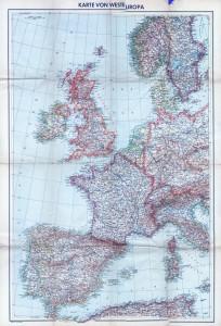 Karte von Westeuropa - 3500K - 2000x3000