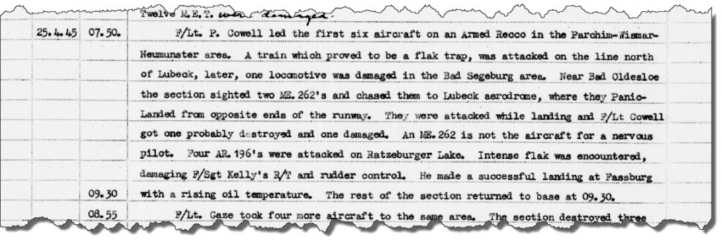 No 41 Sqn Records of Events